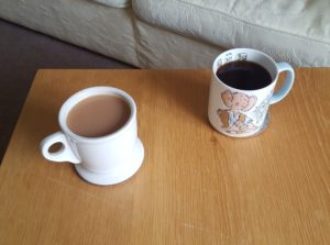 Two cups of coffee, one purpose. Mentoring, coaching, helping.
